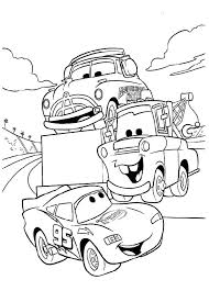Pictures Lightning Mcqueen In Race Tournament Coloring Pages