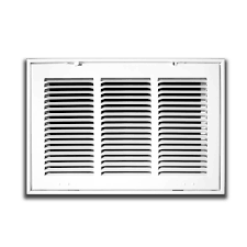 Decorative Return Air Grille 20 X 20 by Truaire 24 In X 12 In White Return Air Filter Grille H190 24x12