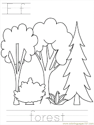 Coloring Pages Bposter Forest Education Others