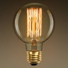40w vintage light bulb g25 globe