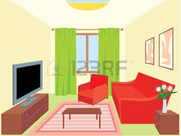 Gorgeous Living Room Design Cartoon Interior House Google Drawing