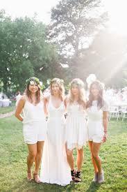 Modern Bridesmaid Outdoor Wedding Dress