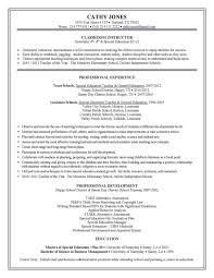Sample Teacher Resumes Special Education Resume
