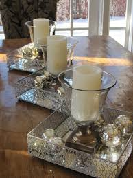 Dining Table Decor For Christmas Id Throw In Some Spray Painted Glitter