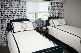 Navy Geometric Pattern Curtains by Navy Blue Headboards Contemporary Boy U0027s Room Andrea May