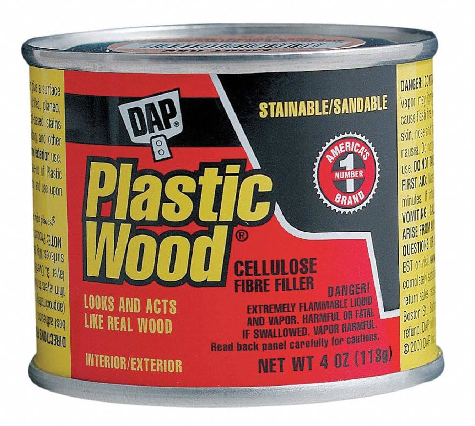 Dap Plastic Wood Ready to Use Solvent Wood Filler - White, 4oz