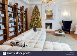 100 Modern White Interior Design Classic Christmas Decorated Interior Room New Year Tree