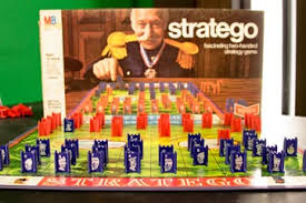 The Full Stratego Board From A Vintage 1970 Set With Foil Stamped Game Pieces