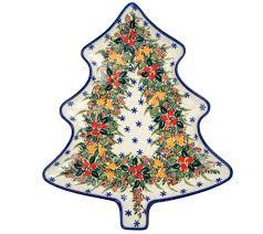 Qvc Christmas Tree Recall by Lidia U0027s Polish Pottery Handmade Christmas Tree Platter Page 1