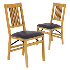 stakmore schoolhouse upholstered folding chair set of 2 hayneedle
