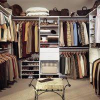great home closet design featuring l shaped style walnut modular