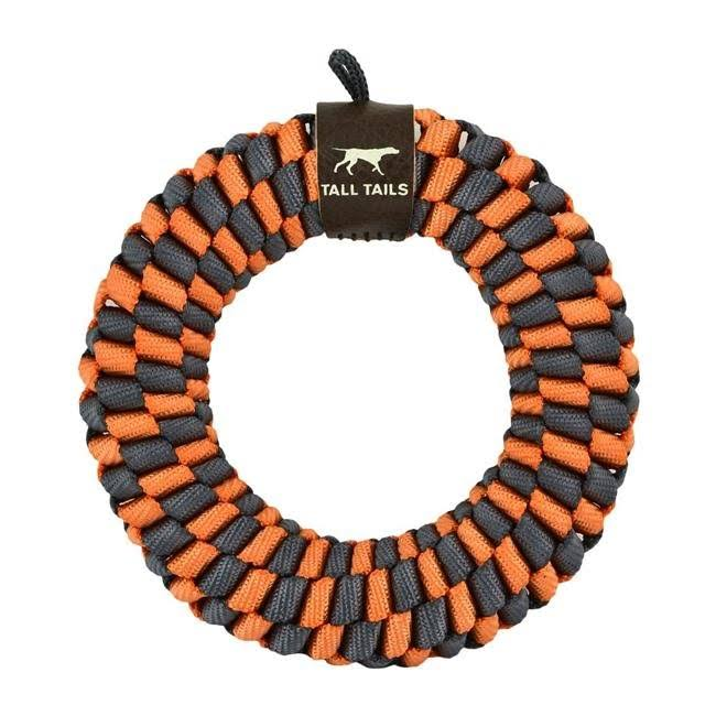 Tall Tails 88217088 Braided Ring Dog Toy Orange - 6 in.
