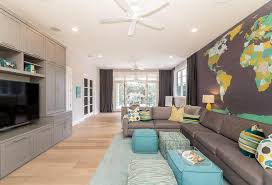 Grey And Turquoise Living Room by Modern Living Room Sherwin Williams Frostwork
