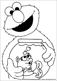 Coloring Page Pages Elmo Printable Free Digital Stamps Face And Abby