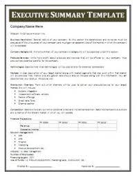 Executive Summary Template Free Business Templates