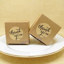 20pcs Lot Kraft Paper Candy Box With Thank You Sticker Chocolate Boxes Vintage Rustic Wedding