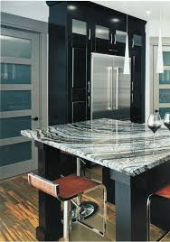 Awesome Kitchen Design Featuring An Exquisite Kenya Black Marble Countertop