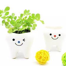 mini zahn keramik blume topf sukkulenten blumentopf simulation zahn gras halter haushalt schlafzimmer wohnzimmer dekoration