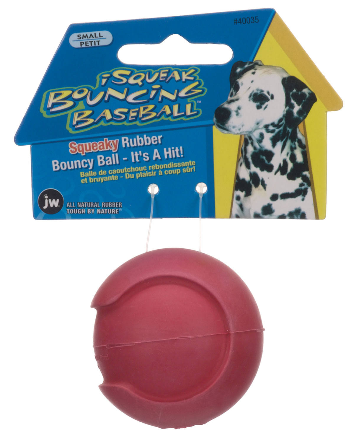 JW Pet iSqueak Bouncin' Baseball Dog Toy - Small