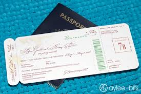 Boarding Pass Save The Date By AyleeBits