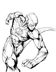 Desenho De The Flash Correndo Para Colorir Tudodesenhos