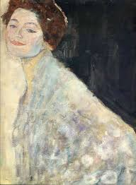 Klimt University Of Vienna Ceiling Paintings by Portrait Of A Lady In White Unfinished 1917 1918 Gustav