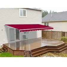 Retractable Patio Awning - Burgundy - ALEKO Air And Sun Tucson Awning Company Shade Sails Retractable Awnings Blog Vestis Systems Amazoncom Camco 42551 Clamp White Automotive 42251 Deflapper Max Rv Clamps Hanger Clips Youtube Gutter Kit From 25 Unique Rv Awning Fabric Ideas On Pinterest Camper Hacks Deflapper Maxpack Of 2 Support Brace Reviews Assist Roof To Fence Great Space Saver Outdoor Blinds Foxwing 31100 Rhinorack Klippy Klips Designer M111 Accsories Hdware