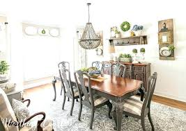 Farmhouse Dining Room Ideas Makeover Reveal Featuring A Faux Planked Wall Design