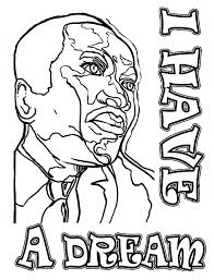 Martin Luther King Printable Coloring Pages Free Inside