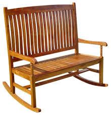2 Seater Rocking Chair Brown Craftsman Outdoor Rocking Chairs