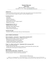 Sample Medical Assistant Resume Sales Objective Objectives Examples
