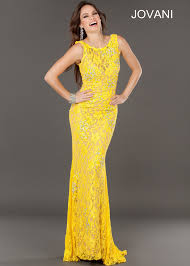 jovani 74194 yellow lace gown 2013 prom collection pinterest
