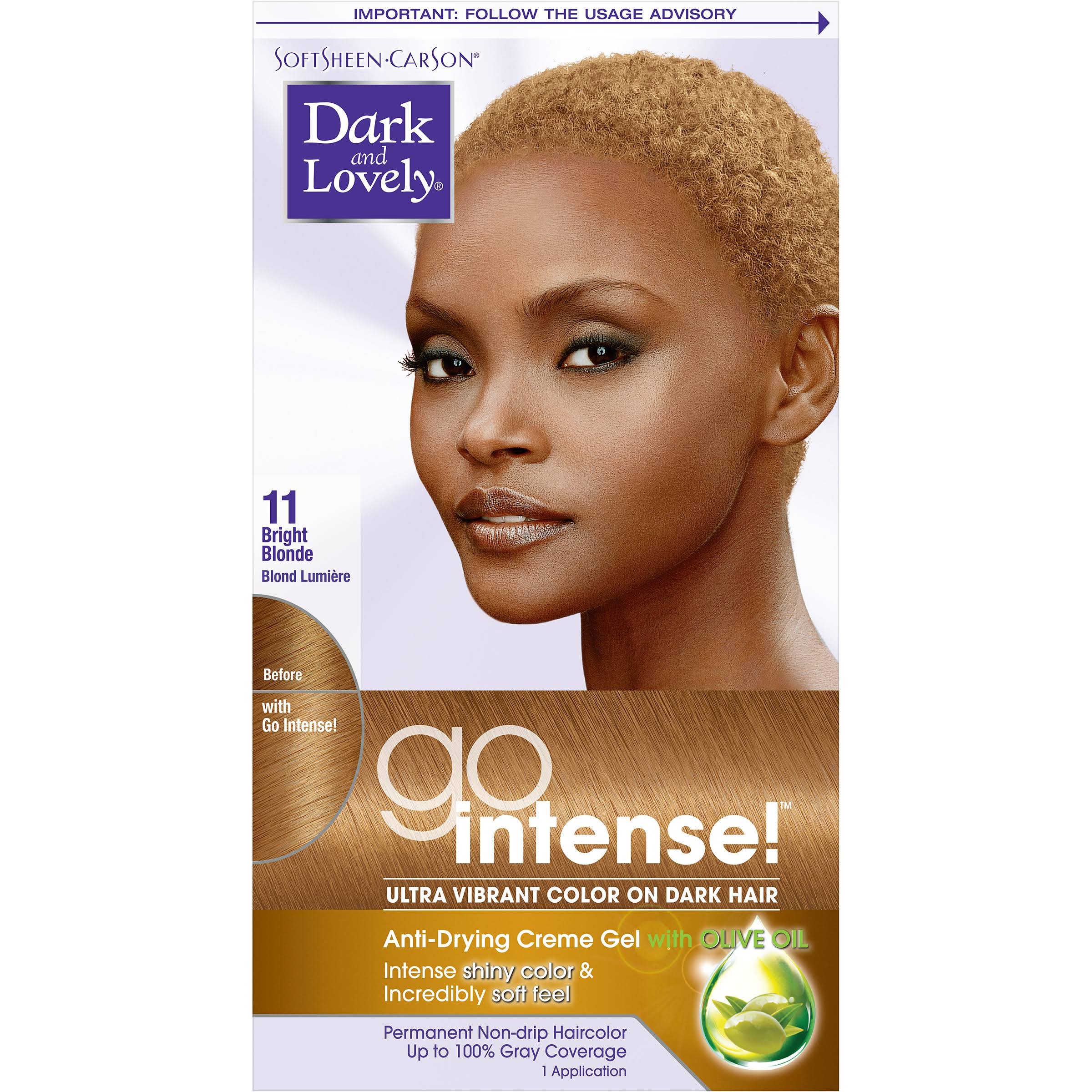 Dark & Lovely Soft Sheen Carson Hair Color Go Intense - 11 Bright Blonde
