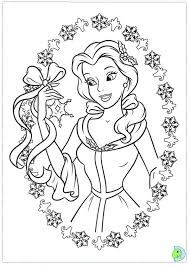 Colouring Pages Disney Princess Printable Christmas Coloring