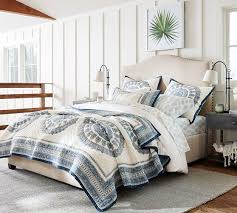 Raleigh Upholstered Nailhead Camelback Tall Bed & Headboard