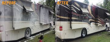 Before And After RV Wash