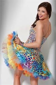 short cheetah prom dresses long dresses