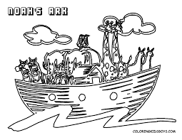 Noahs Ark Printable Coloring Pages