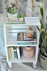 Make A DIY Crate Side Table From Craft Store Crates And Some Wood Feet The Home Improvement This Is Great Way To Inexpensive Storage