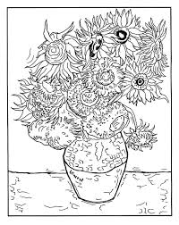 Van Gogh Coloring Pages For Adults