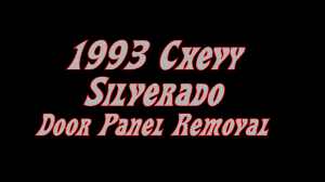 100 Chevy Truck Door Panels 1993 GMC Panel Removal Installation YouTube