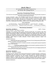 Sample Resume For An Industrial Engineer
