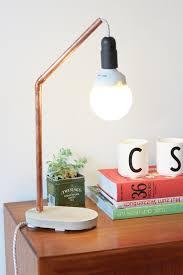Copper Concrete Lamp DIY