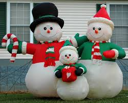 Halloween Airblown Inflatable Lawn Decorations by Image Gemmy 6ft Snowman Family Lighted Christmas Airblown