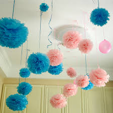 20pcs Set 6 15cm Tissue Paper Pom Poms Flower Balls Hanging Decoration Party Birthday Wedding In Artificial Dried Flowers From Home Garden On