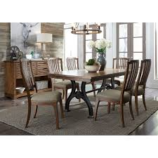 Arlington 7 Piece Trestle Table And Spindle Chair Set By Liberty Furniture  At Rotmans Arlington End Table Ding Transitional Counter Height With Storage Cabinet By Fniture Of America At Rooms For Less Drop Leaf 2 Side Chairs Patio Ellington Single Pedestal 4 Intercon Black Java 18 Inch Gathering Slat Back Bar Stools Dinette Depot 6 Piece Trestle Set Bench Liberty Pilgrim City Rifes Home Store Northern Virginia Alexandria Fairfax