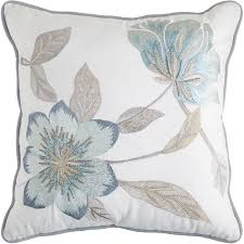 Pier One Canada Decorative Pillows by Glacier Bay Beaded Floral Blue Pillow Pier 1 Imports