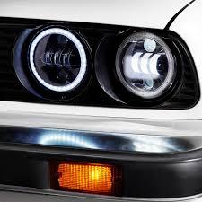 100 Led Lights For Trucks Headlights Lumen SB5050BABLK 5 34 Round Black Projector LED