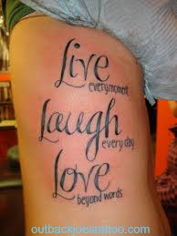 Live Laugh Love Hip Tattoo Design In 2017 Real Photo Pictures Images And Sketches Collections