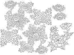 Japan Flowers More Coloring Pages